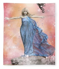 In The Wind Fleece Blanket