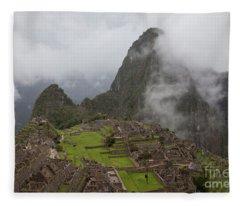 Inca Ruins Fleece Blanket