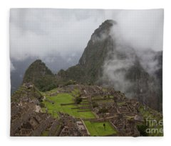Inca Ruins Fleece Blanket