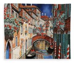 inchiostro a Venezia Fleece Blanket