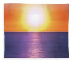 Incredible Sunset Over Sea Fleece Blanket