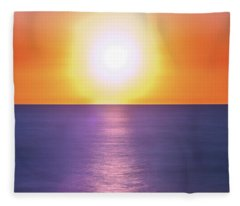 Incredible Sunset Over Sea Fleece Blanket
