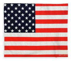 Pooling Independence Day Large Scale Oil On Canvas Original United States Flag Fleece Blanket