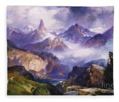 Index Peak Yellowstone National Park Fleece Blanket