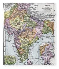 India Circa 1930. Before Partition Fleece Blanket