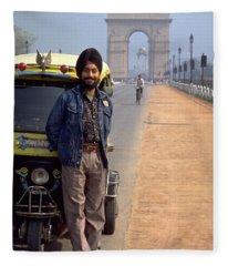 India Gate Fleece Blanket