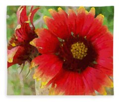 Indian Blanket Flowers Fleece Blanket