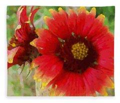 Indian Blanket Flowers Fleece Blanket