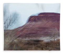 Indian Creek Winter Fleece Blanket