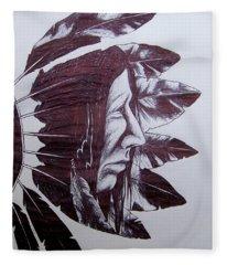 Indian Feathers Fleece Blanket