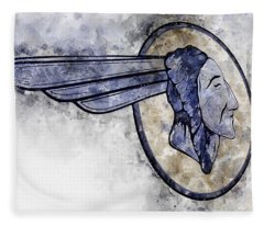 Indian Head Watercolor Fleece Blanket