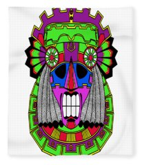 Indian Mask Fleece Blanket