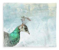 Indian Peahen Fleece Blanket