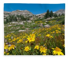 Indian Peaks Summer Wildflowers Fleece Blanket