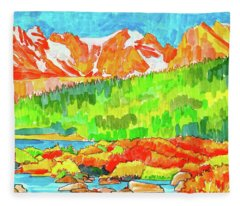 Indian Peaks Wilderness Fleece Blanket