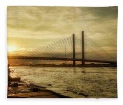 Indian River Inlet View Fleece Blanket
