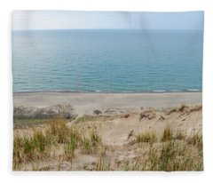 Indiana Dunes National Lakeshore Evening Fleece Blanket