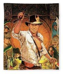 Indiana Jones Raiders Of The Lost Ark 1981 Fleece Blanket