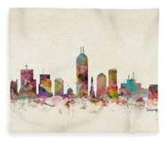 Indianapolis Indiana Fleece Blanket