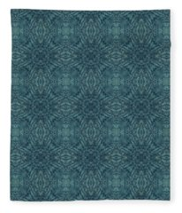 Indigo Diamond Cross Pattern 24in Fleece Blanket