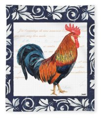 Indigo Rooster 1 Fleece Blanket