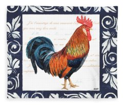 Chicken Paintings Fleece Blankets
