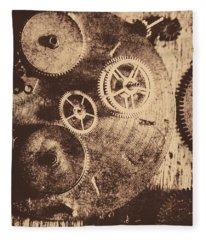 Industrial Gears Fleece Blanket