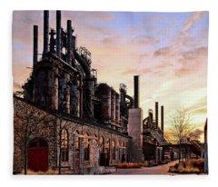Industrial Landmark Fleece Blanket