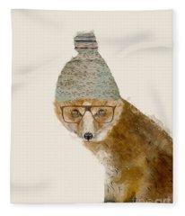 Indy Fox Fleece Blanket
