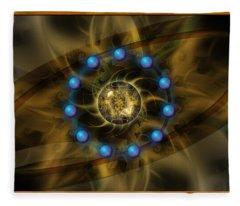 Infinite Lotus Fleece Blanket