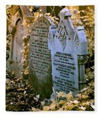 Infrared George Leybourne And Albert Chevalier's Gravestone Fleece Blanket