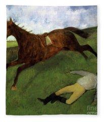 Injured Jockey Fleece Blanket