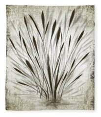 Ink Grass Fleece Blanket