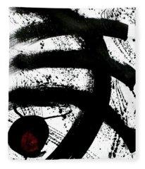 Ink On Paper Rose #1 Vertical Ink Landscape Original Fine Art Ink On Paper Fleece Blanket