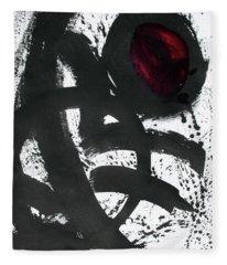 Ink On Paper Rose #2 Vertical Ink Landscape Original Fine Art Ink On Paper Fleece Blanket