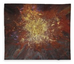Fleece Blanket featuring the painting Inner Fire by Michael Lucarelli
