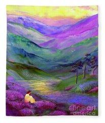 Inner Flame, Meditation Fleece Blanket