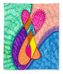 Inner Heart - V Fleece Blanket