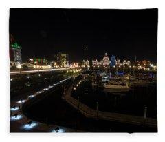 Inner Harbour Of Victoria Bc Fleece Blanket