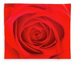 Inside A Rose Fleece Blanket