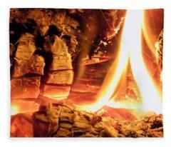 Inside Fire Fleece Blanket