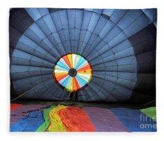 Inside The Balloon Fleece Blanket