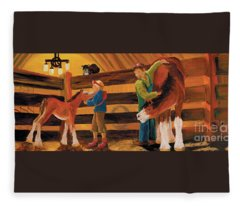 Inside The Barn Fleece Blanket