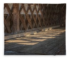 Inside The Bridge Fleece Blanket