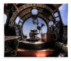 Inside The Flying Fortress Fleece Blanket