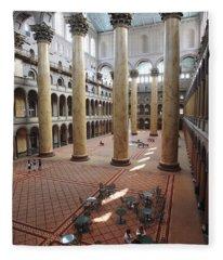 Inside The National Building Museum In Washington Dc Fleece Blanket