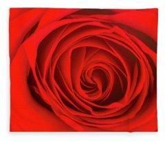 Inside The Red Rose Fleece Blanket