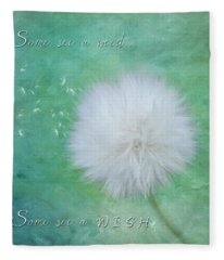 Inspirational Art - Some See A Wish Fleece Blanket