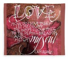 Inspirational Saying Love Fleece Blanket