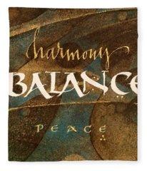 Inspirational Words Fleece Blanket